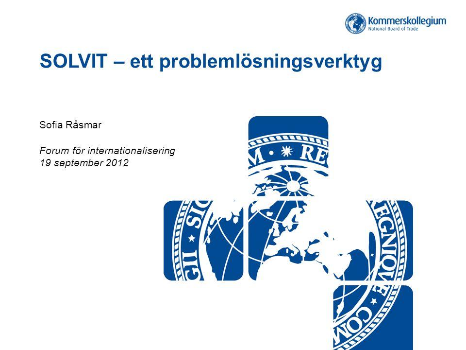 SOLVIT – ett problemlösningsverktyg