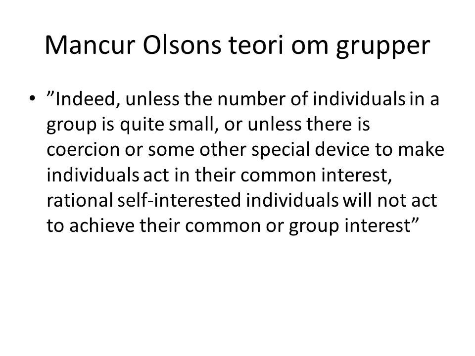 Mancur Olsons teori om grupper