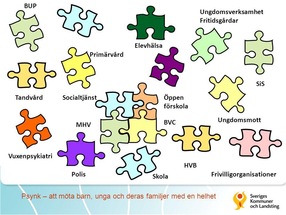 BUP Ungdomsverksamhet. Fritidsgårdar. Elevhälsa. Primärvård. SiS. Tandvård. Socialtjänst. Öppen.