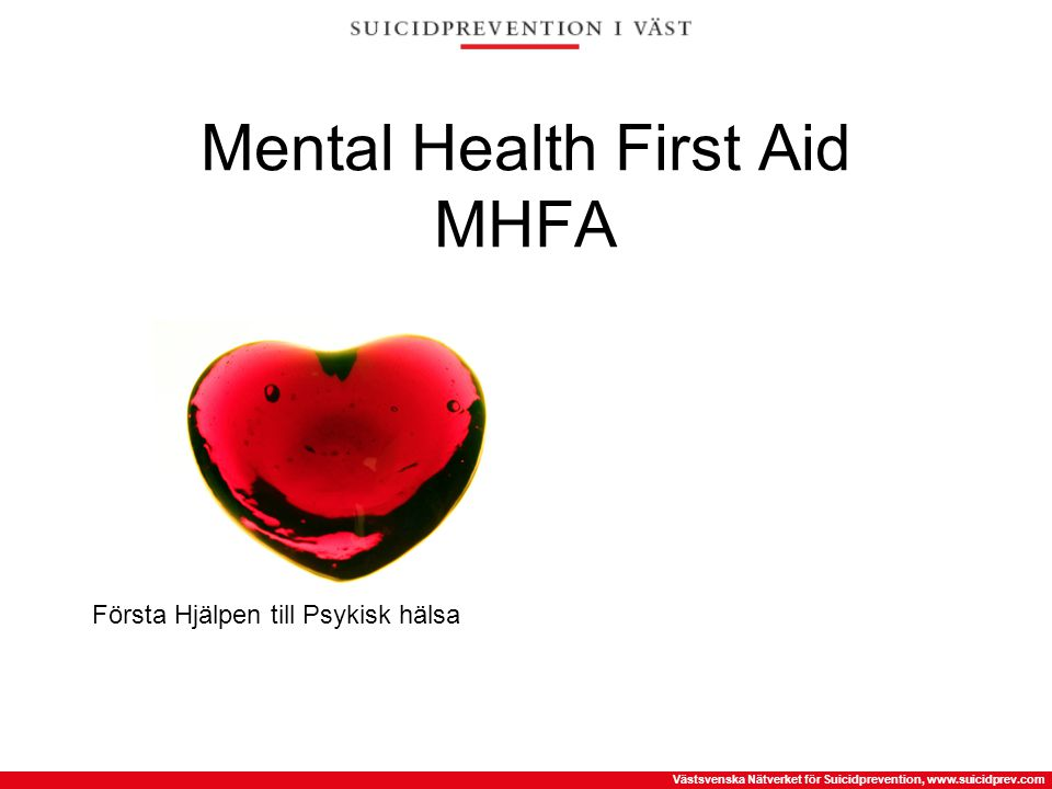 Mental Health First Aid MHFA