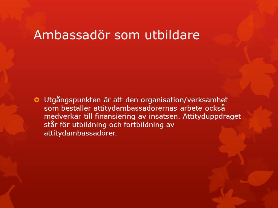 Ambassadör som utbildare