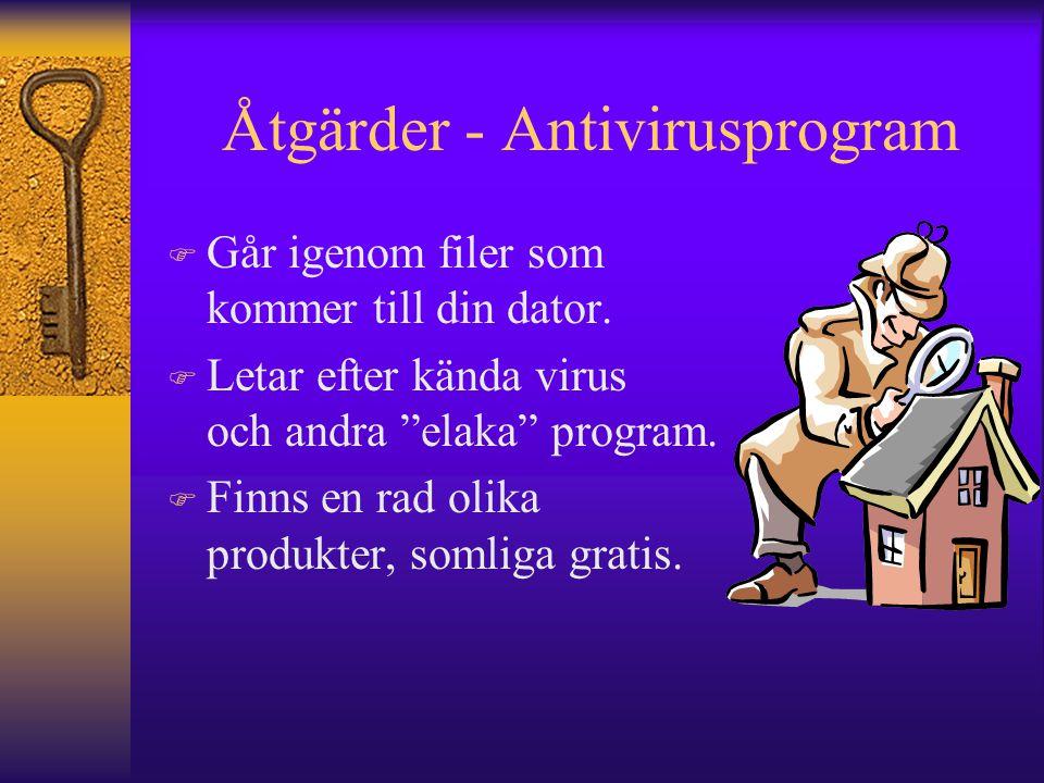 Åtgärder - Antivirusprogram
