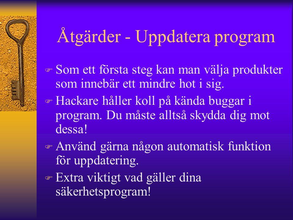 Åtgärder - Uppdatera program