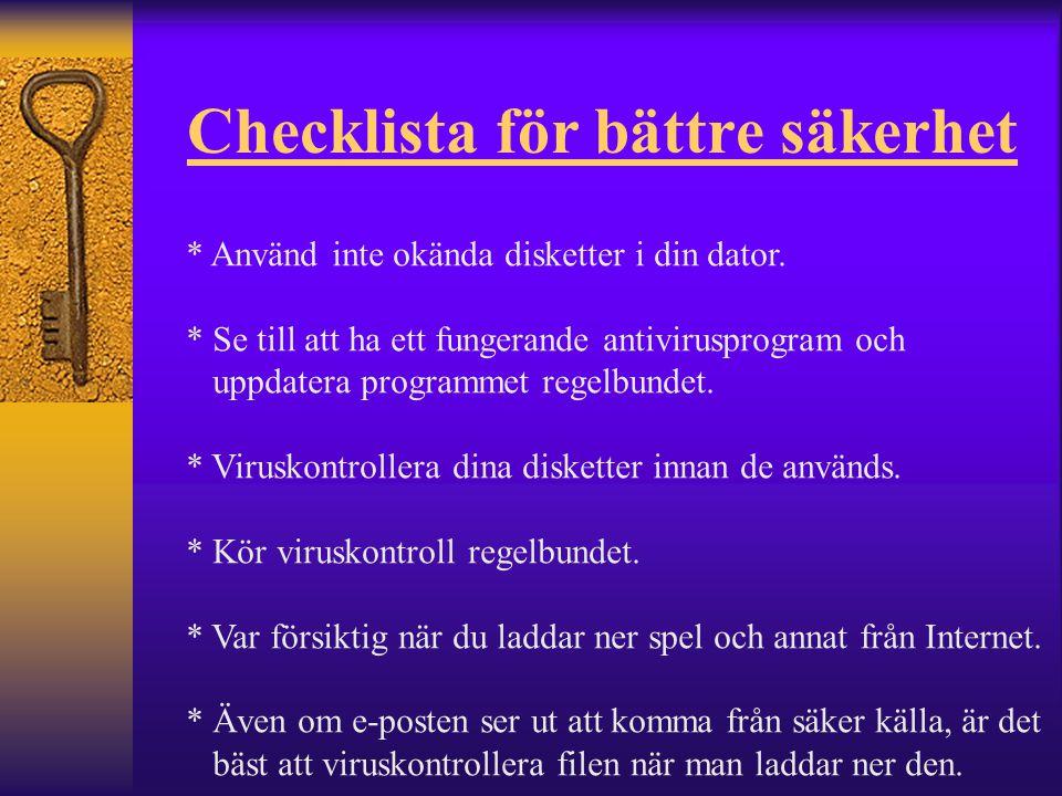 Checklista för bättre säkerhet