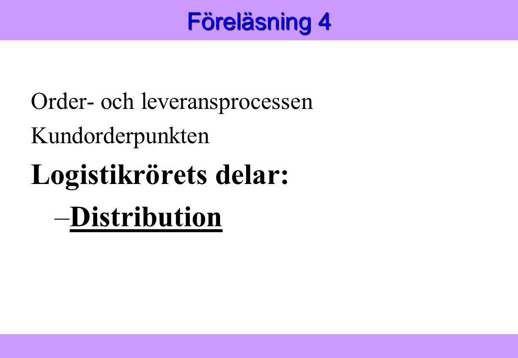Logistikrörets delar: Distribution