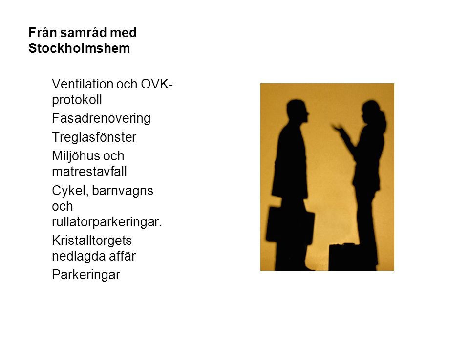 Från samråd med Stockholmshem