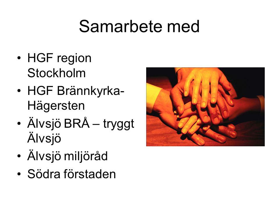 Samarbete med HGF region Stockholm HGF Brännkyrka-Hägersten