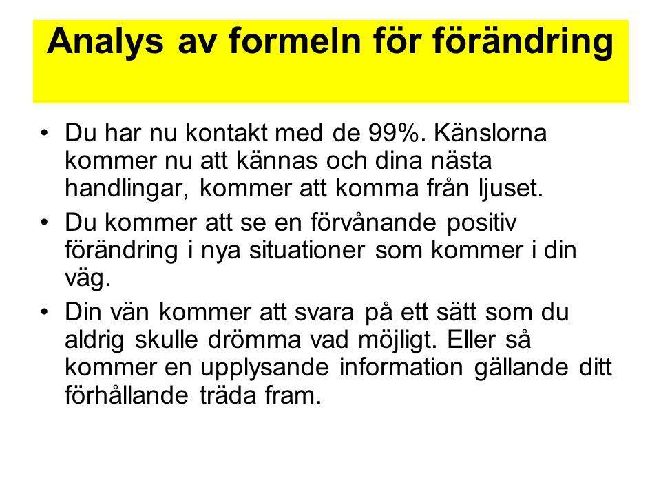 Analys av formeln för förändring