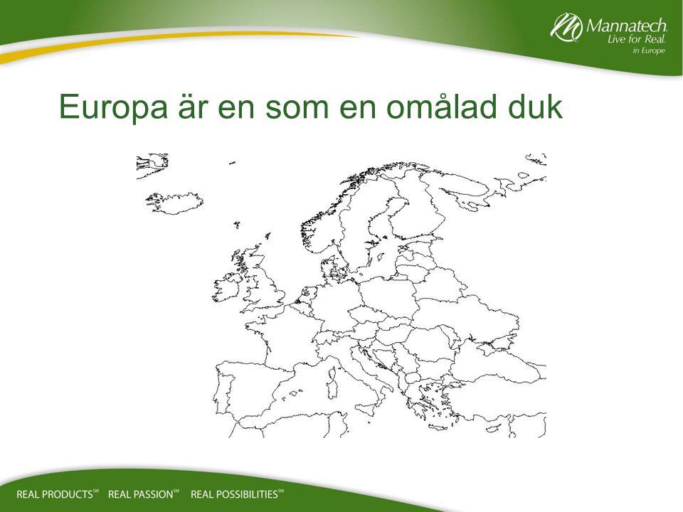 Europa är en som en omålad duk