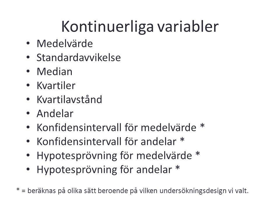 Kontinuerliga variabler