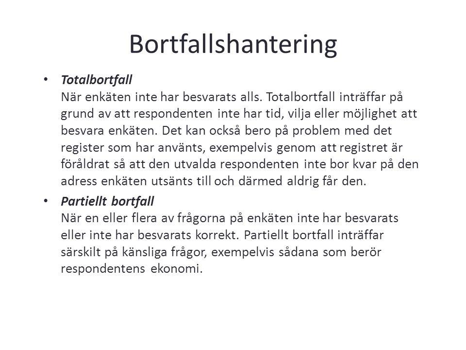 Bortfallshantering