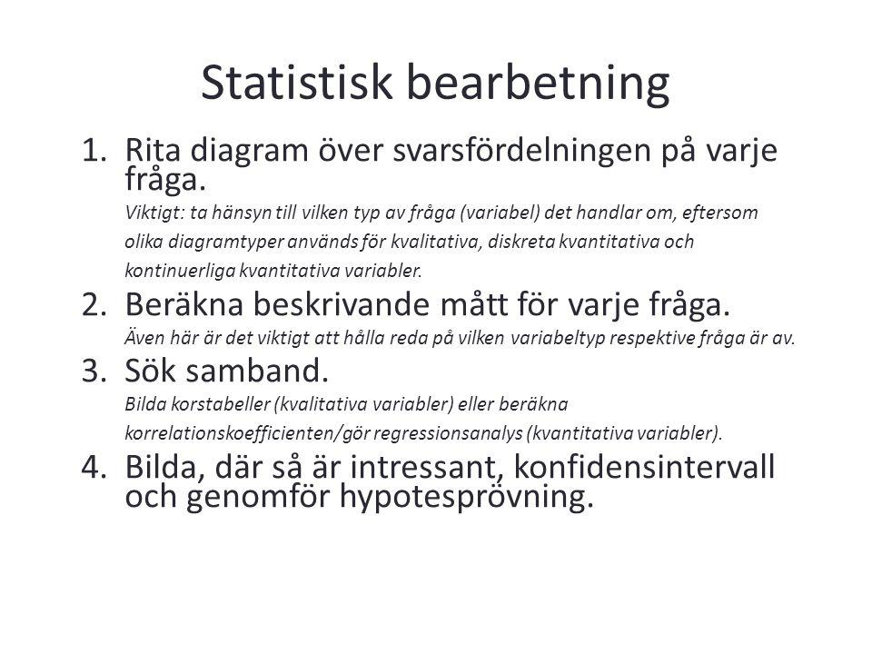 Statistisk bearbetning