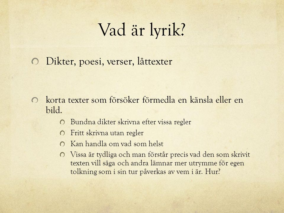 Poesi dikter