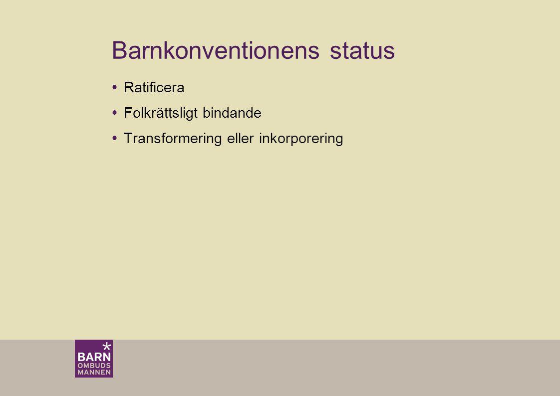 Barnkonventionens status