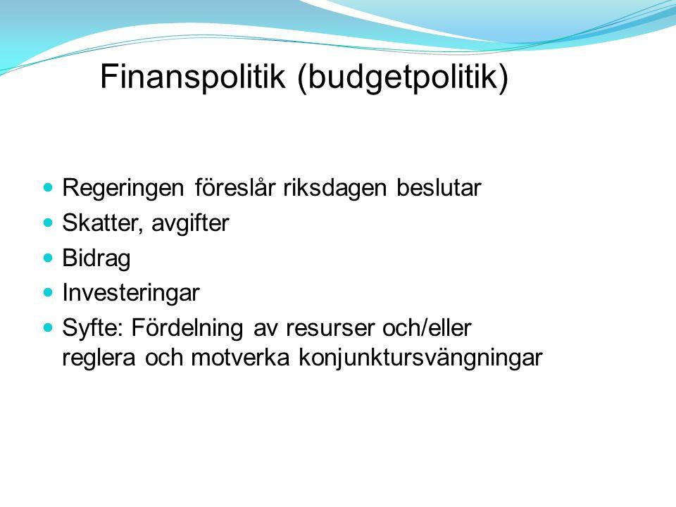 Finanspolitik (budgetpolitik)