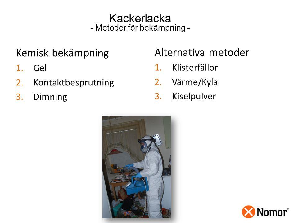 - Metoder för bekämpning -