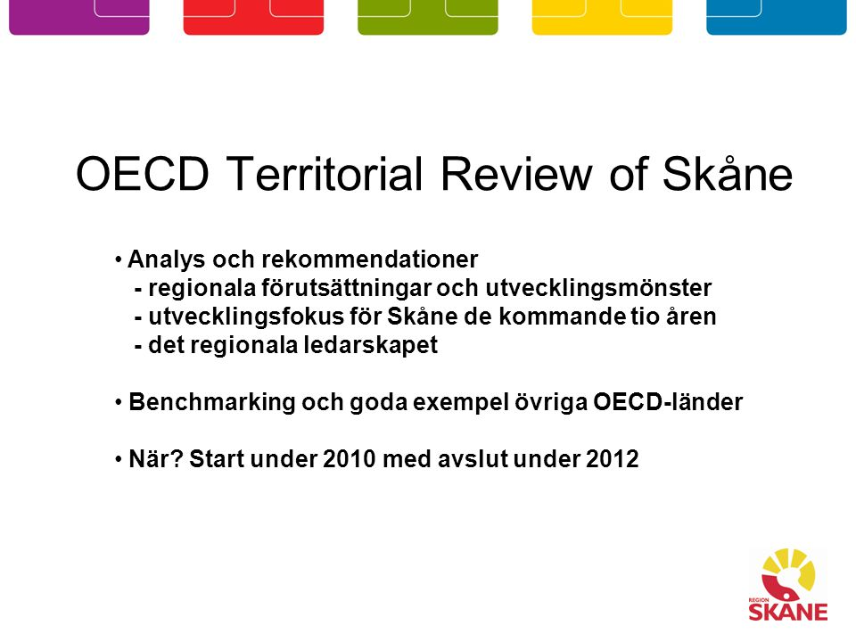 OECD Territorial Review of Skåne