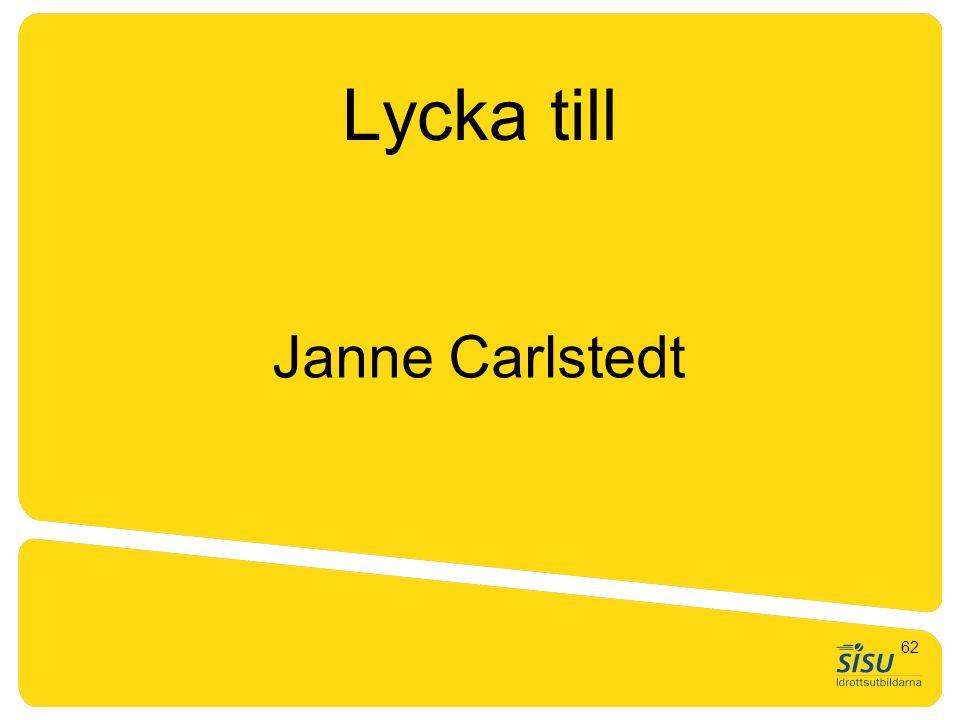 GTU nivå 1. Generell träningslära, teori Janne Carlstedt