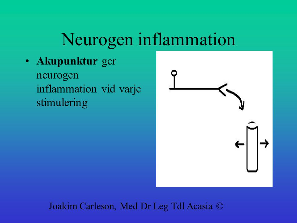 Neurogen inflammation