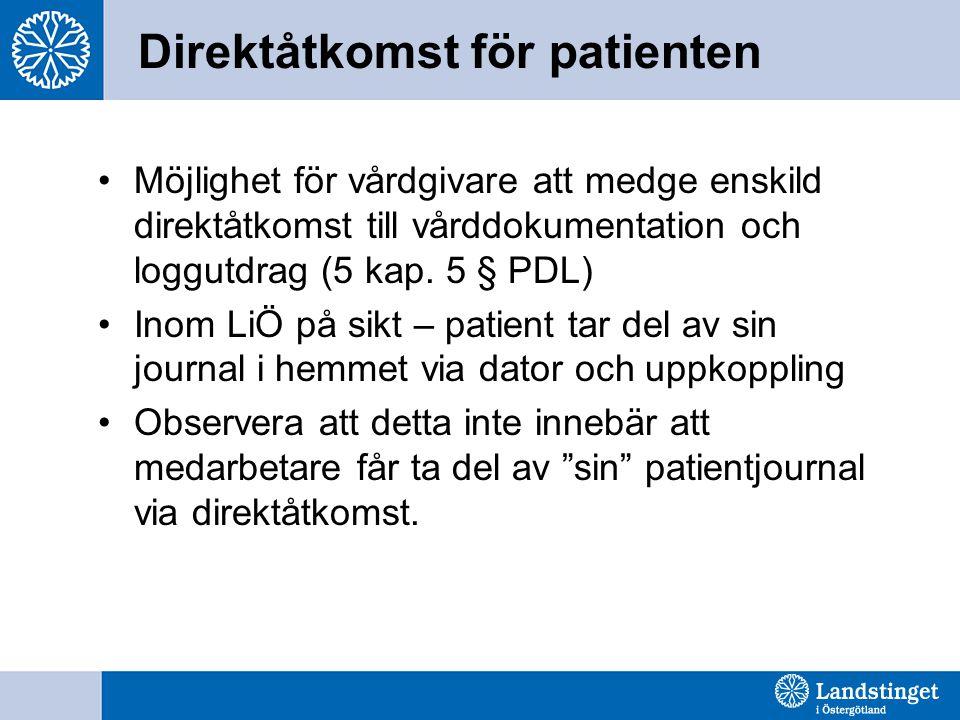 Direktåtkomst för patienten