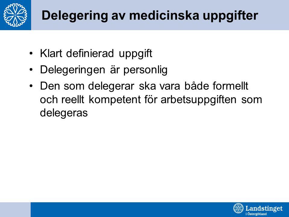 Delegering av medicinska uppgifter