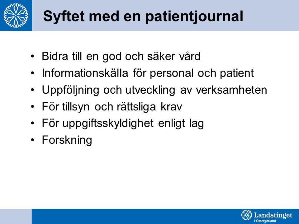 Syftet med en patientjournal