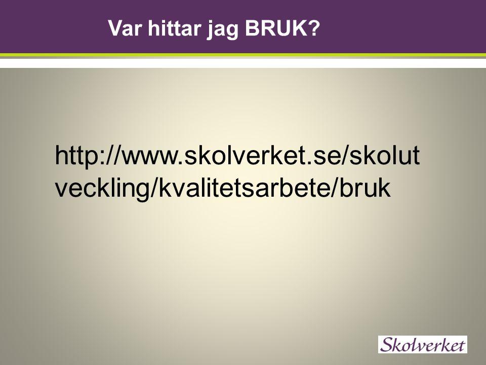 Var hittar jag BRUK http://www.skolverket.se/skolutveckling/kvalitetsarbete/bruk