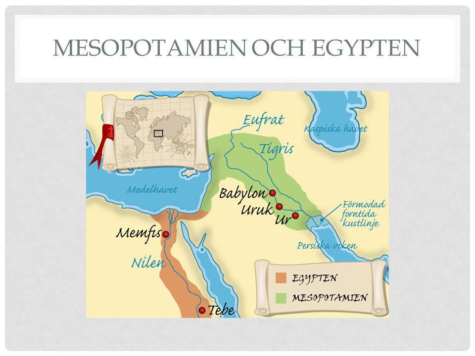 Mesopotamien och Egypten