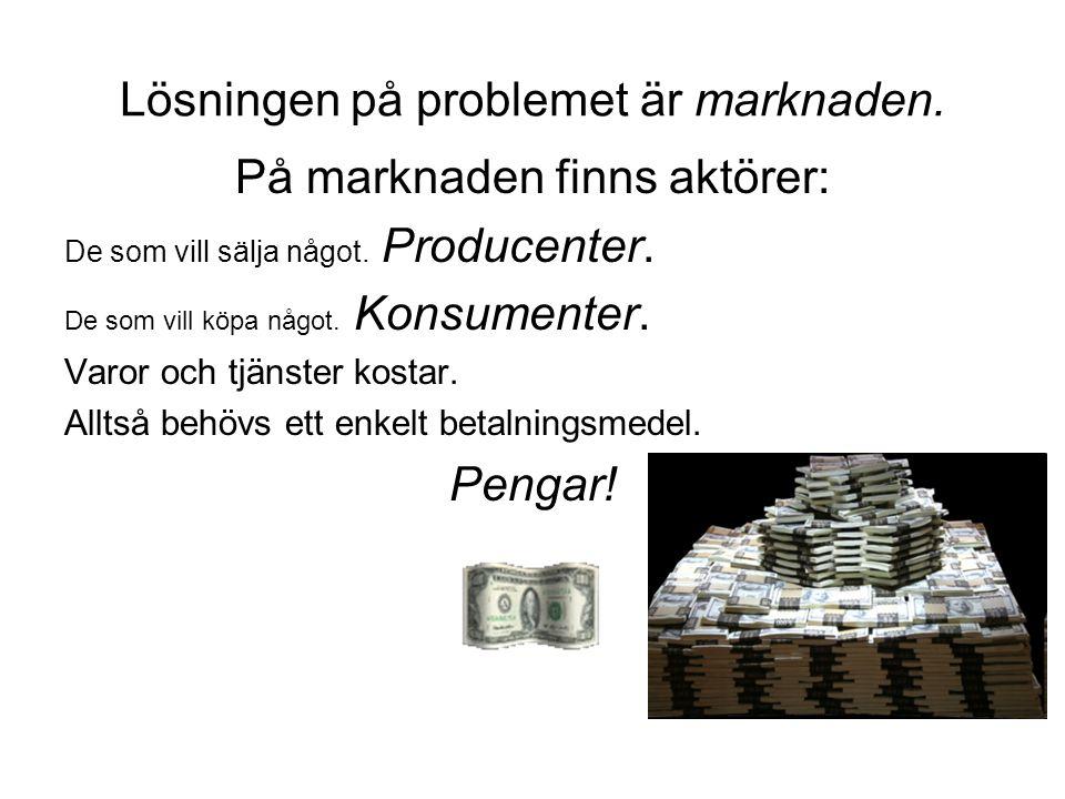 Lösningen på problemet är marknaden.
