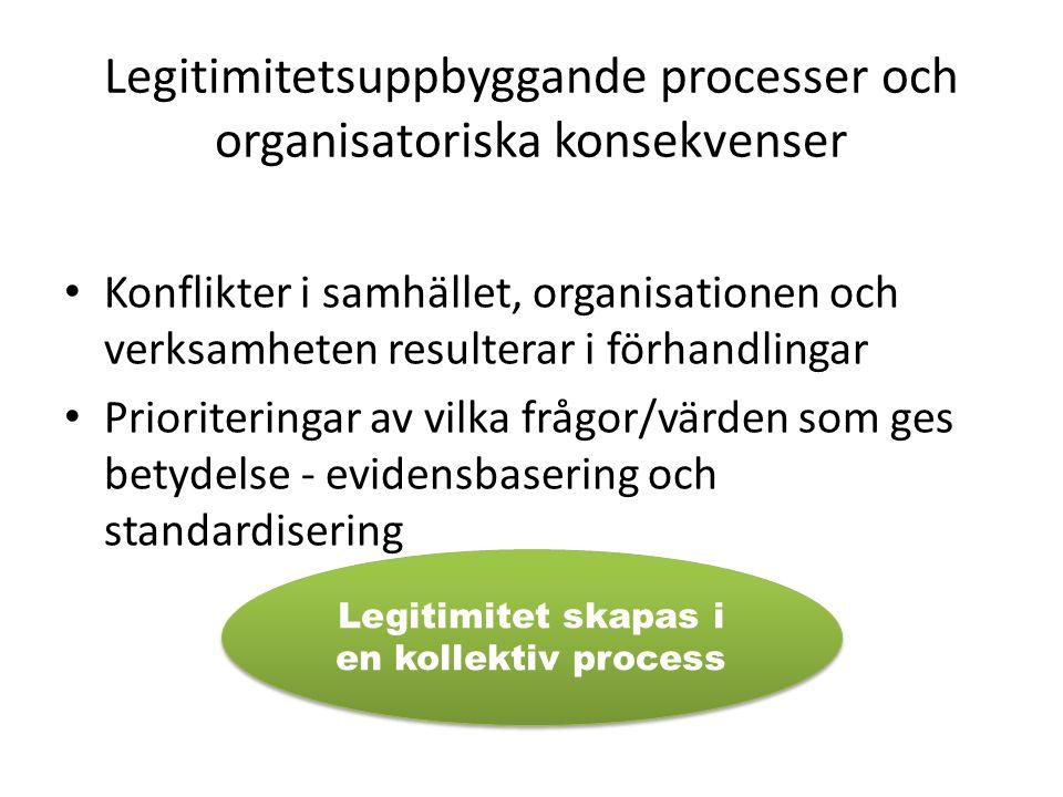 Legitimitetsuppbyggande processer och organisatoriska konsekvenser