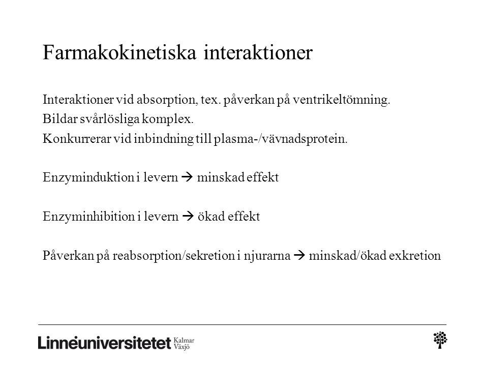 Farmakokinetiska interaktioner