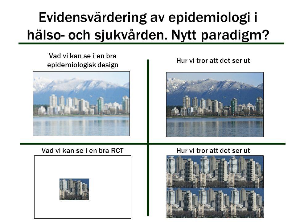 Evidensvärdering av epidemiologi i hälso- och sjukvården. Nytt paradigm