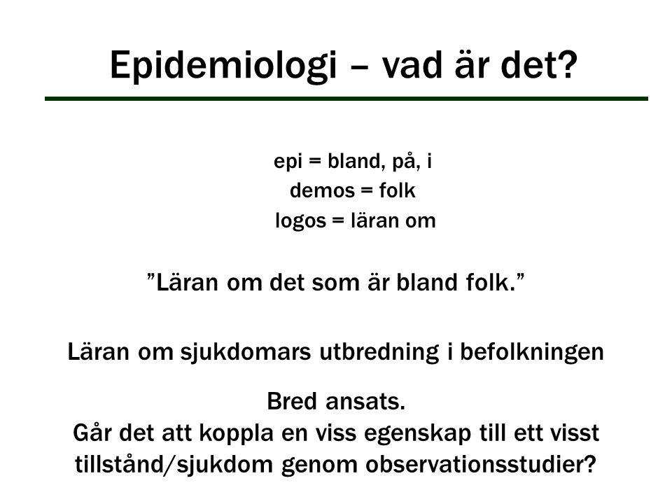 Epidemiologi – vad är det