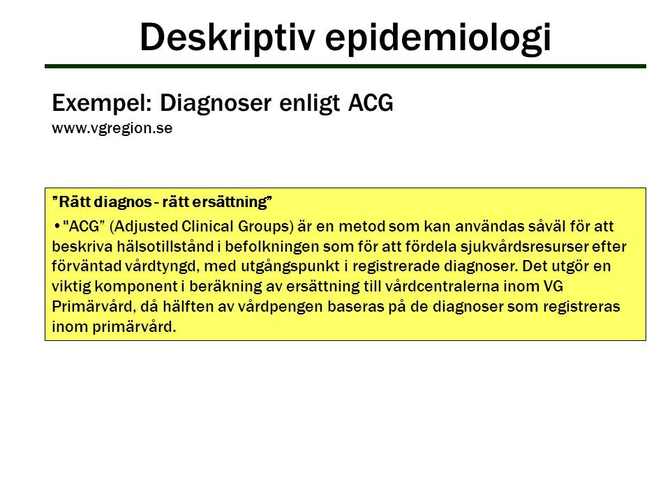 Deskriptiv epidemiologi