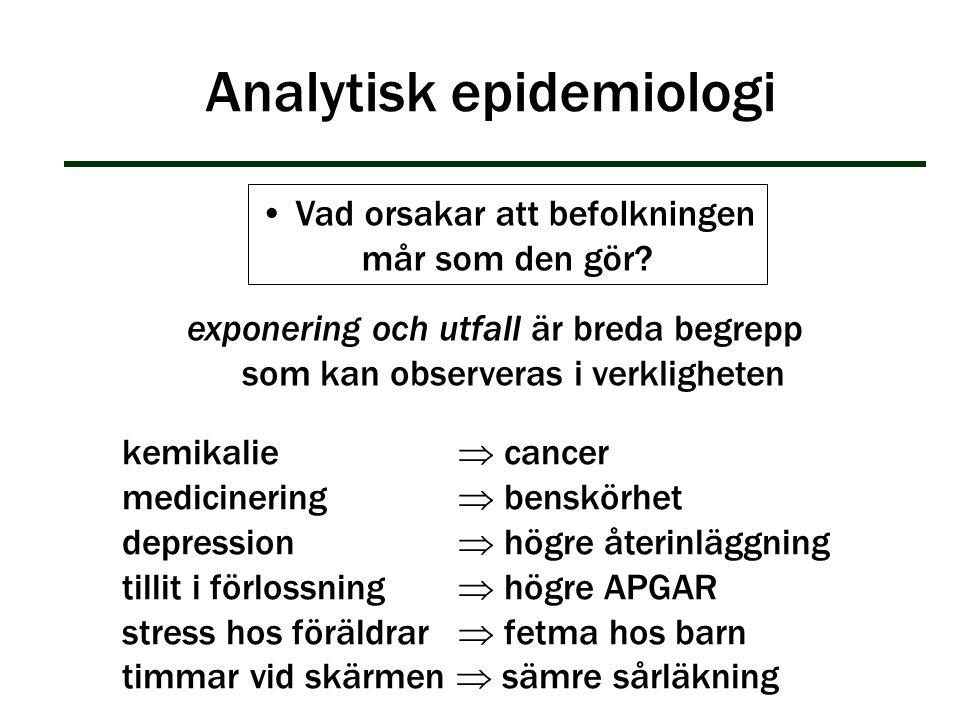 Analytisk epidemiologi