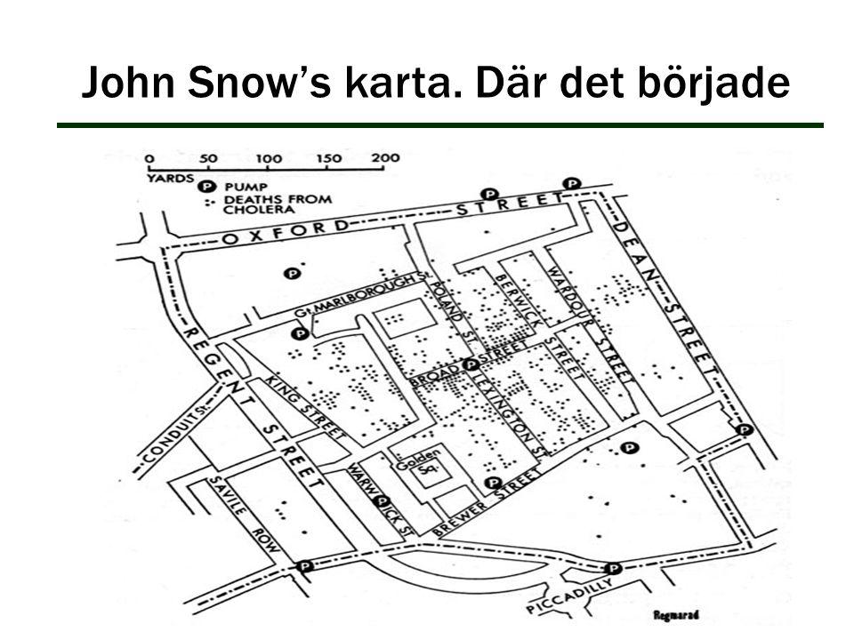 John Snow's karta. Där det började