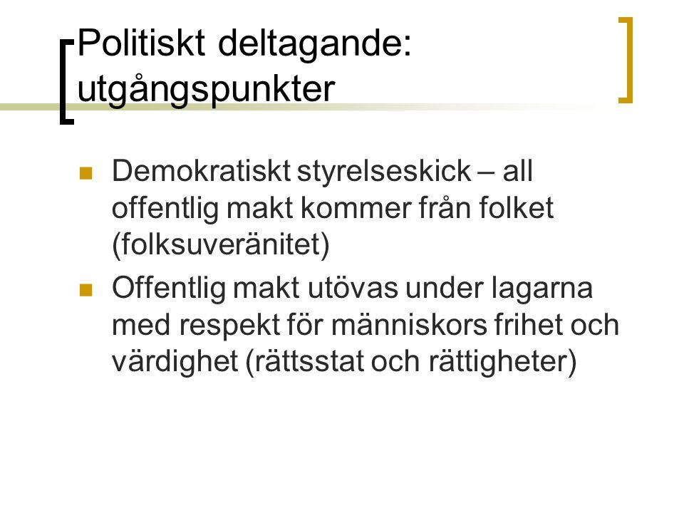 Politiskt deltagande: utgångspunkter