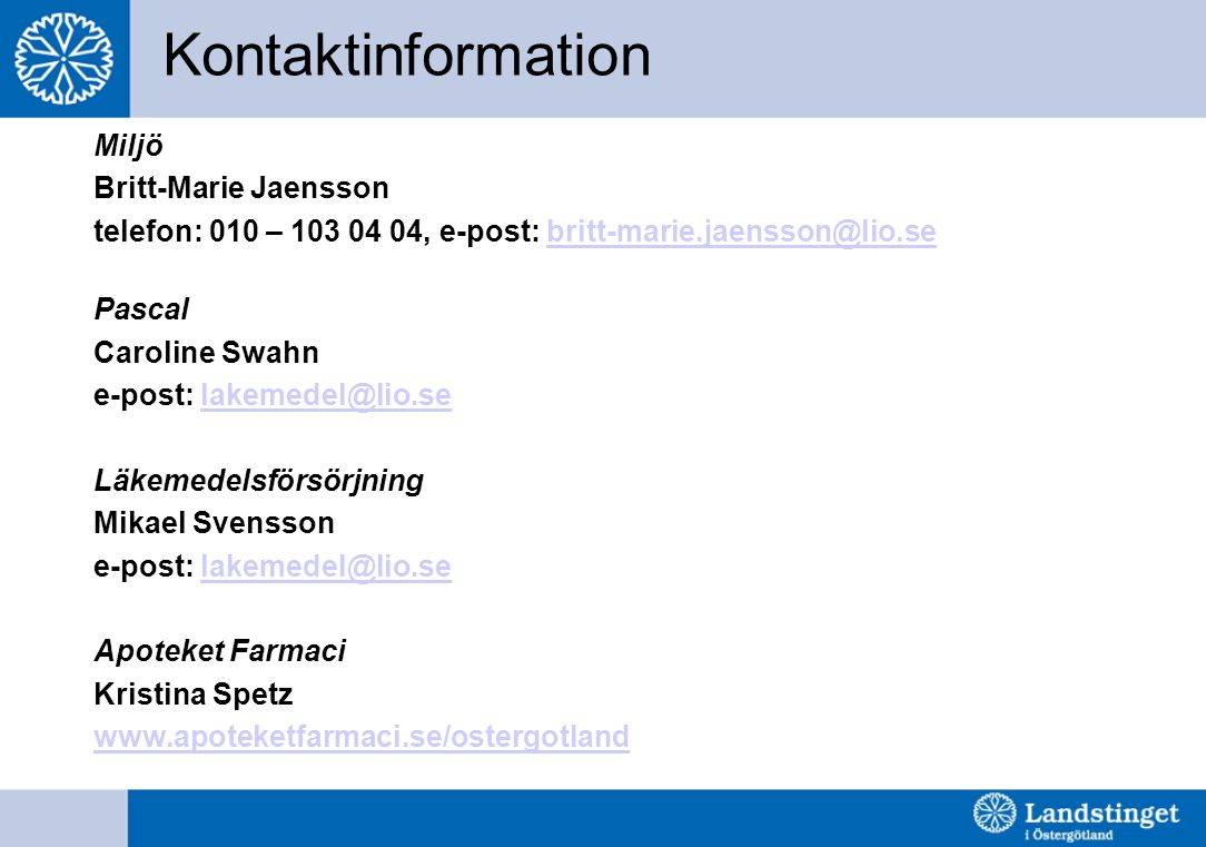 Kontaktinformation Miljö Britt-Marie Jaensson