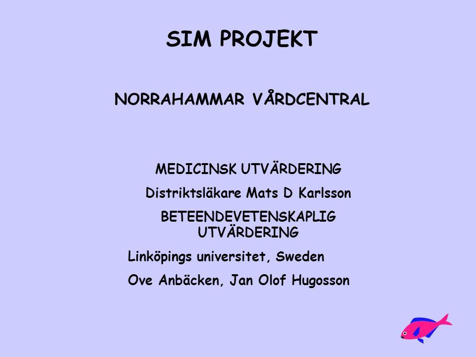 SIM PROJEKT NORRAHAMMAR VÅRDCENTRAL MEDICINSK UTVÄRDERING