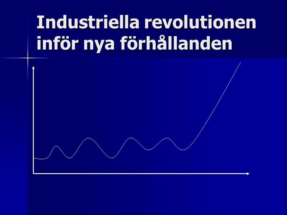 Industriella revolutionen inför nya förhållanden