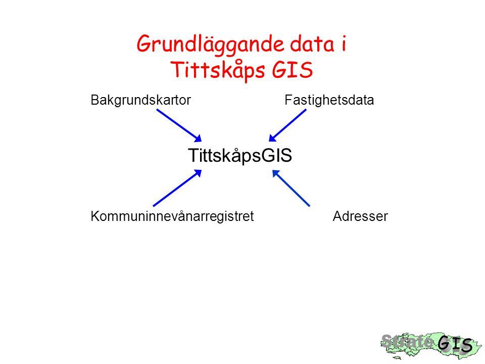 Grundläggande data i Tittskåps GIS