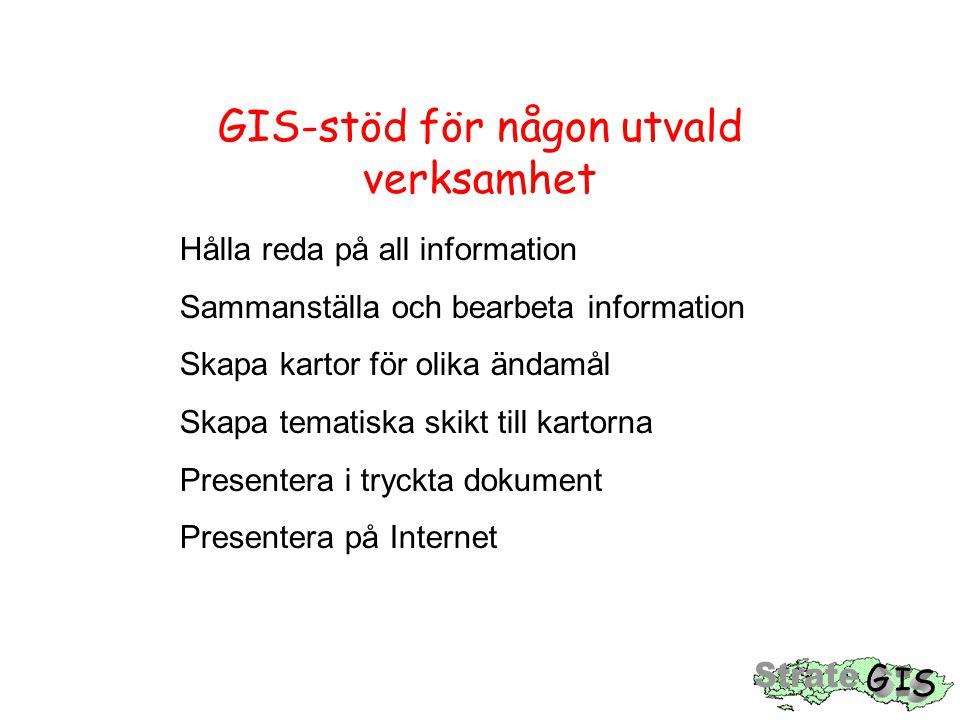 GIS-stöd för någon utvald verksamhet