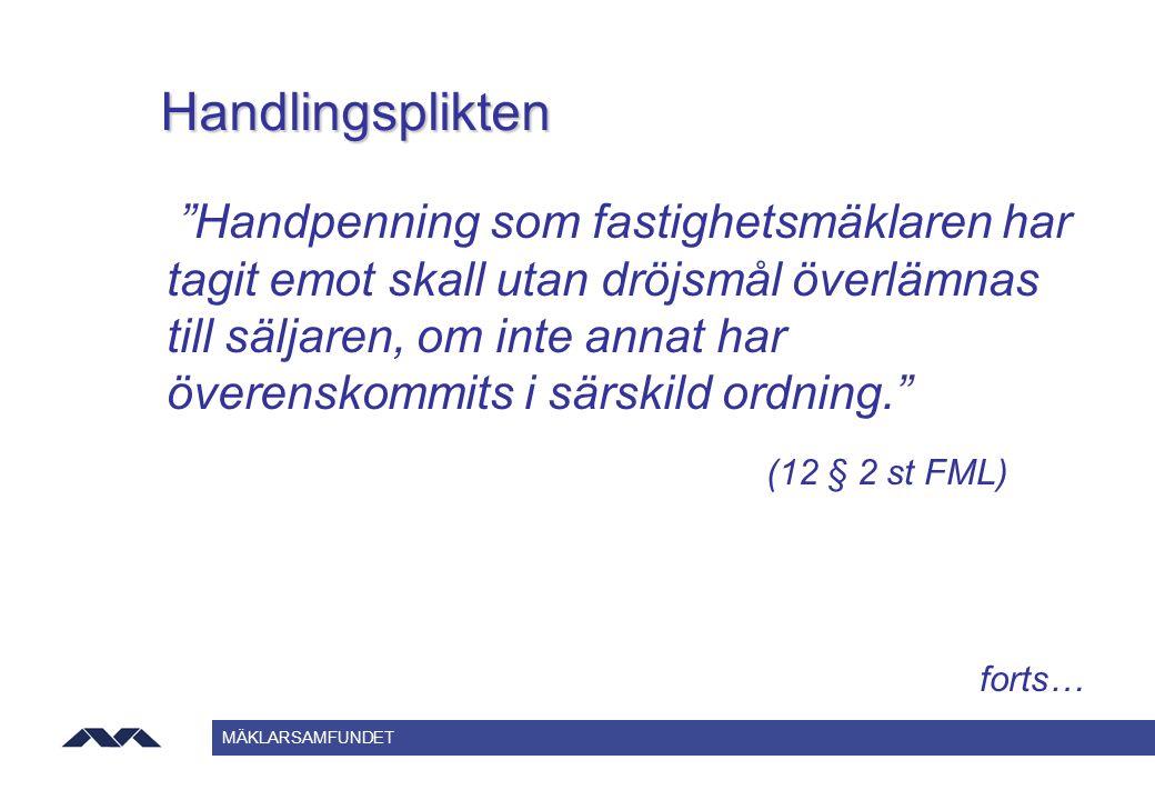 Handlingsplikten (12 § 2 st FML)