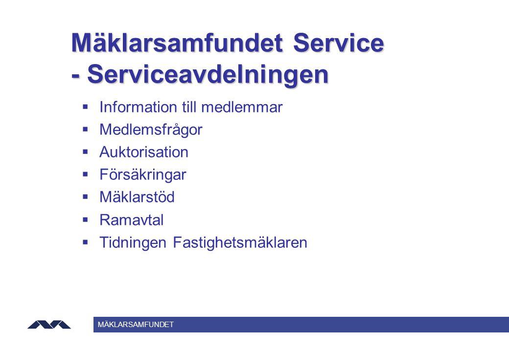 Mäklarsamfundet Service - Serviceavdelningen