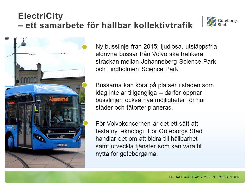 ElectriCity – ett samarbete för hållbar kollektivtrafik