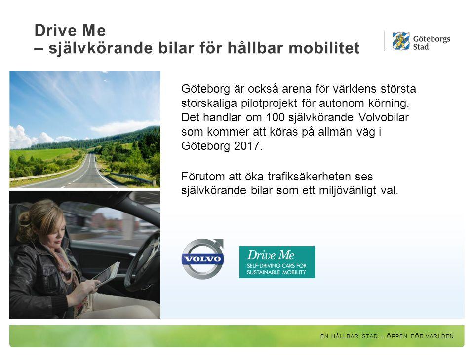 Drive Me – självkörande bilar för hållbar mobilitet
