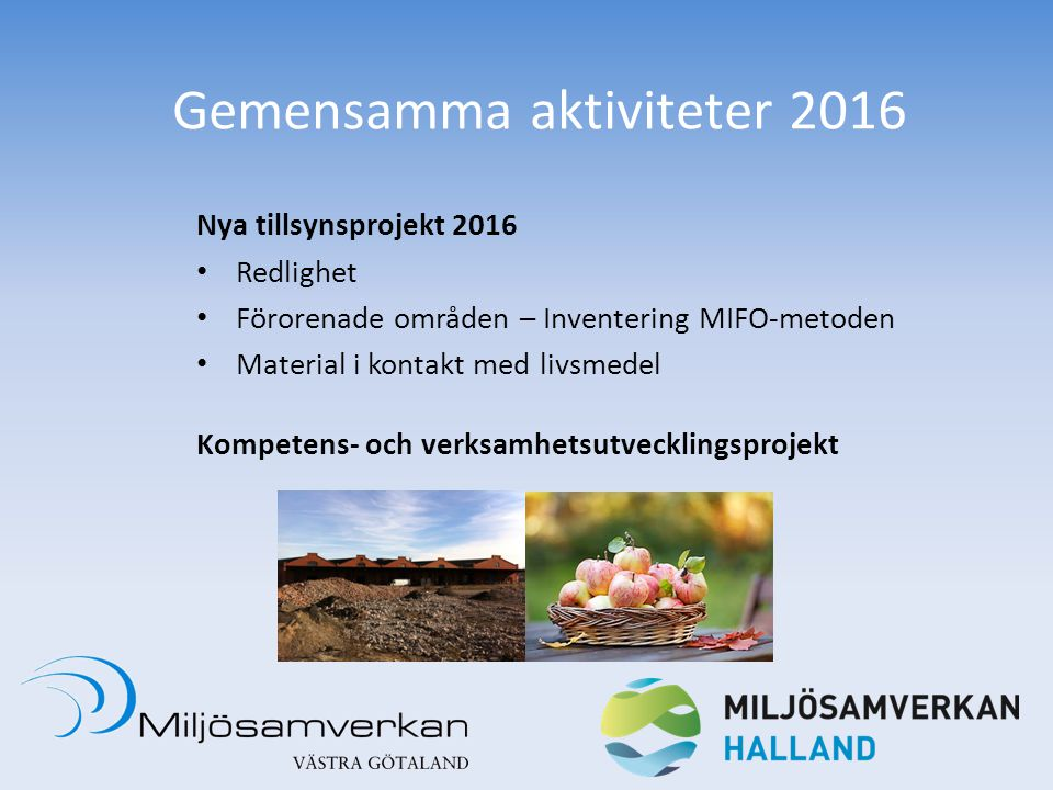 Gemensamma aktiviteter 2016