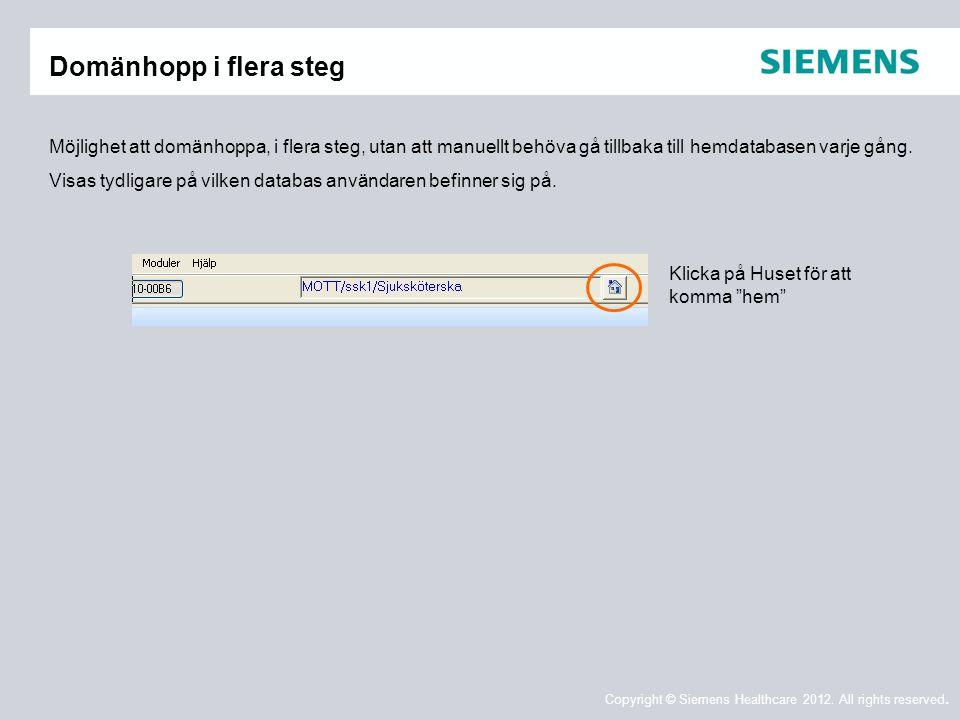 Domänhopp i flera steg Möjlighet att domänhoppa, i flera steg, utan att manuellt behöva gå tillbaka till hemdatabasen varje gång.
