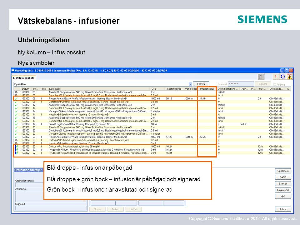 Vätskebalans - infusioner