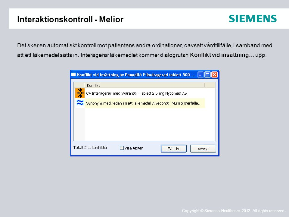 Interaktionskontroll - Melior